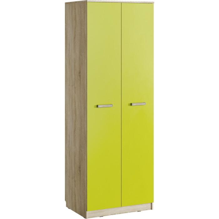 Шкаф для одежды Сильва НМ 013.02-03 акварель дуб сонома/лайм