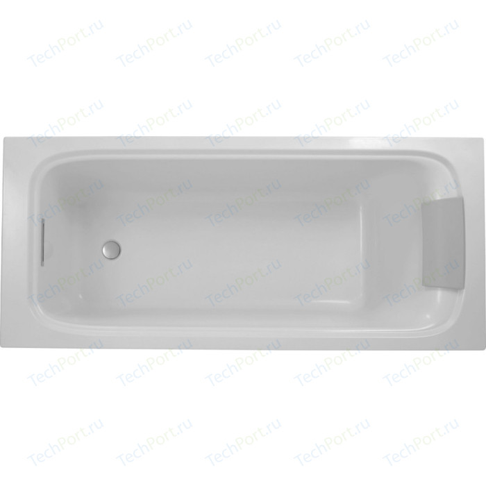 Ванна Jacob Delafon Elite 170x70 с ножками, слив-перелив (E6D030-00, E6D071-CP) ванна из искусственного камня jacob delafon elite 170x75 с щелевидным переливом e6d031 00 без гидромассажа