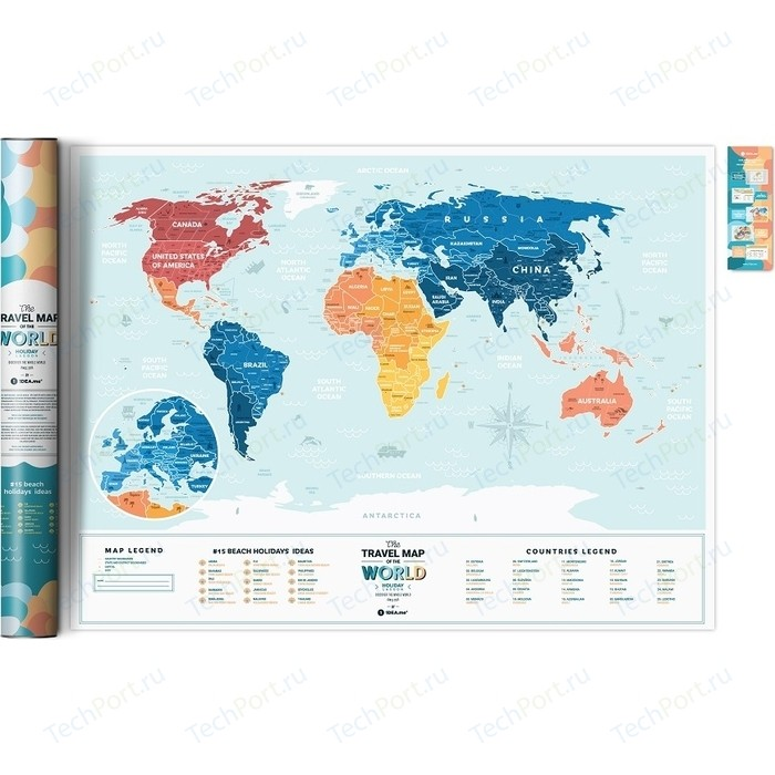Карта 1DEA.me Travel map holiday lagoon world
