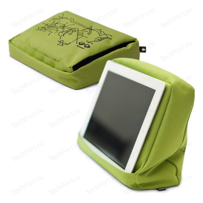 Подушка-подставка с карманом для планшета Bosign Hitech 2 зеленая - черная
