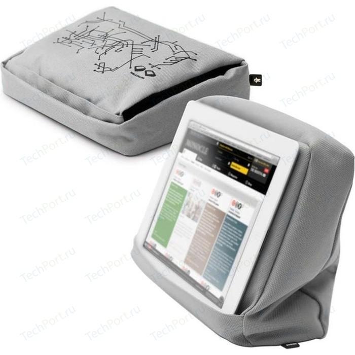Подушка-подставка с карманом для планшета Bosign Hitech 2 серебристая - черная