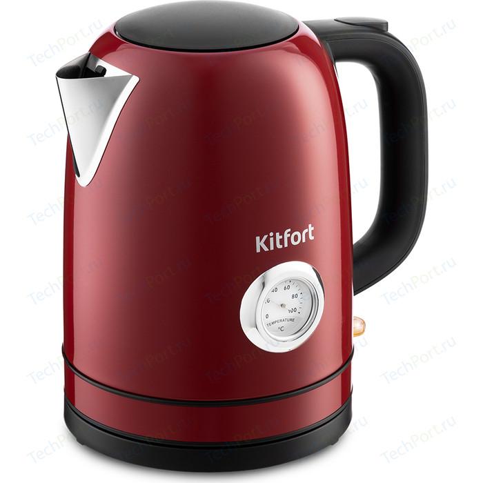 Чайник электрический KITFORT KT-683-2 красный