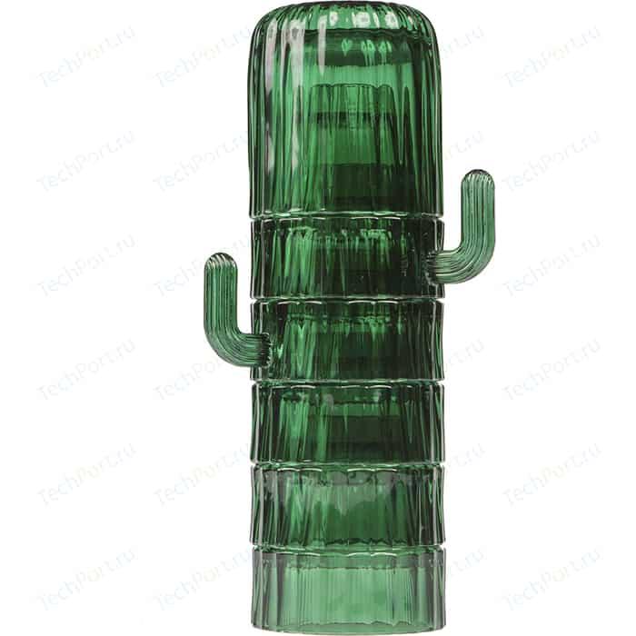 Набор из 6-ти стеклянных стаканов Doiy Saguaro, зеленый