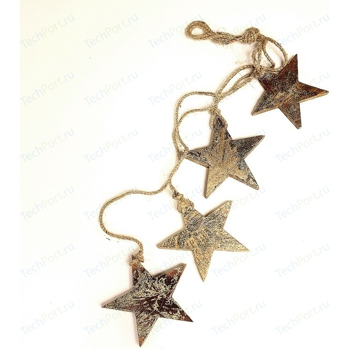 Гирлянда подвесная EnjoyMe Golden stars, 4 шт.