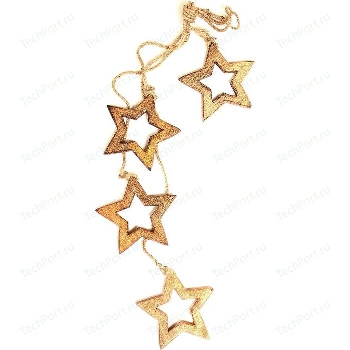 Гирлянда подвесная EnjoyMe Wooden stars, 4 шт.