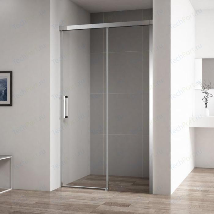 Душевая дверь Cezares Duet-Soft BF-1 130x195 прозрачная, хром (DUET SOFT-BF-1-130-C-Cr)