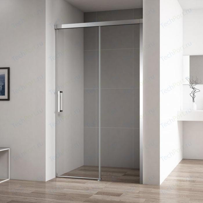 Душевая дверь Cezares Duet-Soft BF-1 140x195 прозрачная, хром (DUET SOFT-BF-1-140-C-Cr)