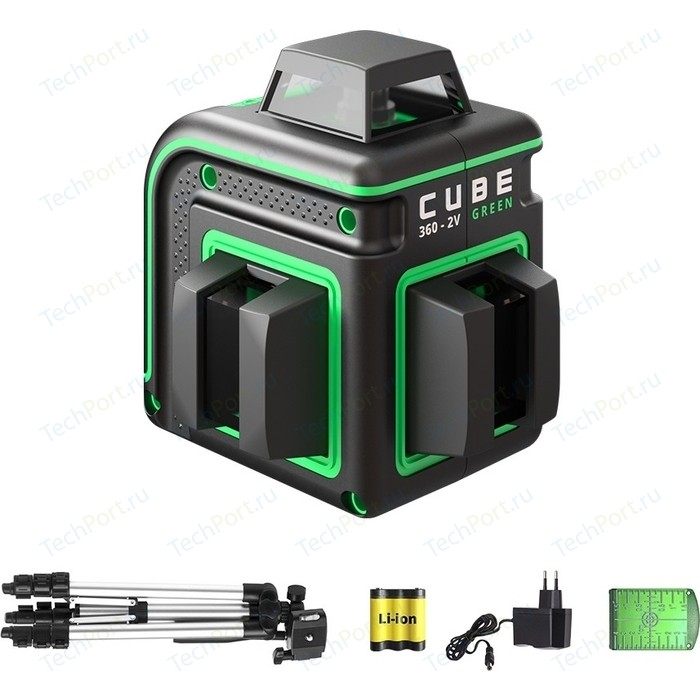 Лазерный уровень ADA Cube 360-2V Green Professional Edition