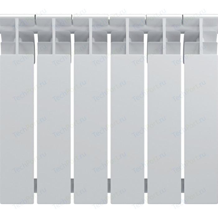 Радиатор биметаллический Oasis BM 500/80 6 секции (4670004370940) биметаллический радиатор rifar рифар b 500 нп 10 сек лев кол во секций 10 мощность вт 2040 подключение левое