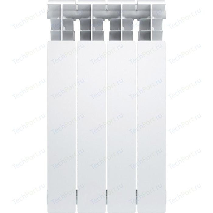 Радиатор биметаллический Oasis BM 500/100 4 секции (4640015381006) биметаллический радиатор rifar рифар b 500 нп 10 сек лев кол во секций 10 мощность вт 2040 подключение левое