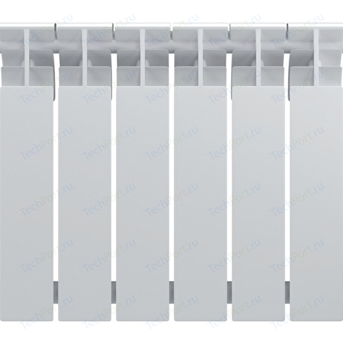 Радиатор биметаллический Oasis BM 500/70 6 секции (4670004379677) биметаллический радиатор rifar рифар b 500 нп 10 сек лев кол во секций 10 мощность вт 2040 подключение левое