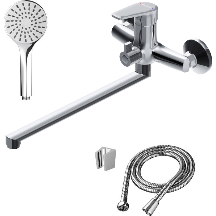 Смеситель для ванны Dorff Prime с душевым гарнитуром, хром (D4095000)