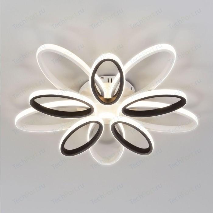 Потолочная светодиодная люстра Eurosvet Blade 90137/10 белый/чёрный