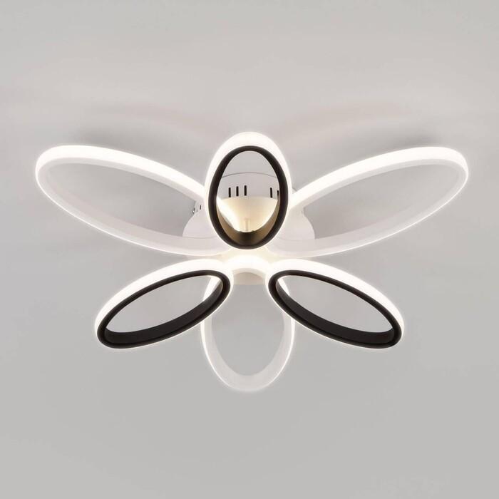 Потолочная светодиодная люстра Eurosvet Blade 90137/6 белый/чёрный