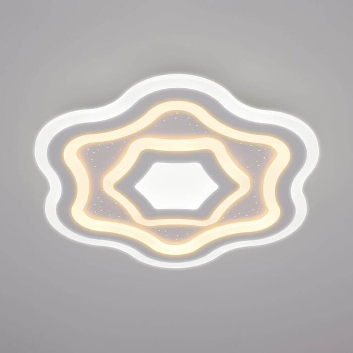 Потолочный светодиодный светильник Eurosvet Siluet 90151/5 белый