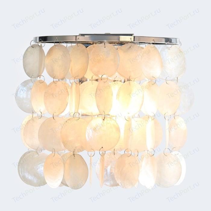 Настенный светильник Eurosvet Sandra 60084/2 хром/перламутр