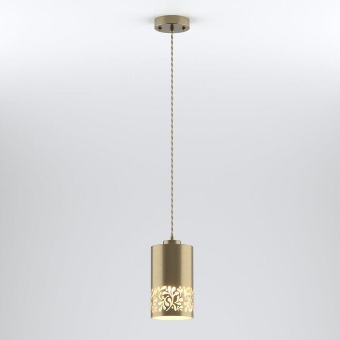 Подвесной светильник Eurosvet Tracery 50071/1 античная бронза