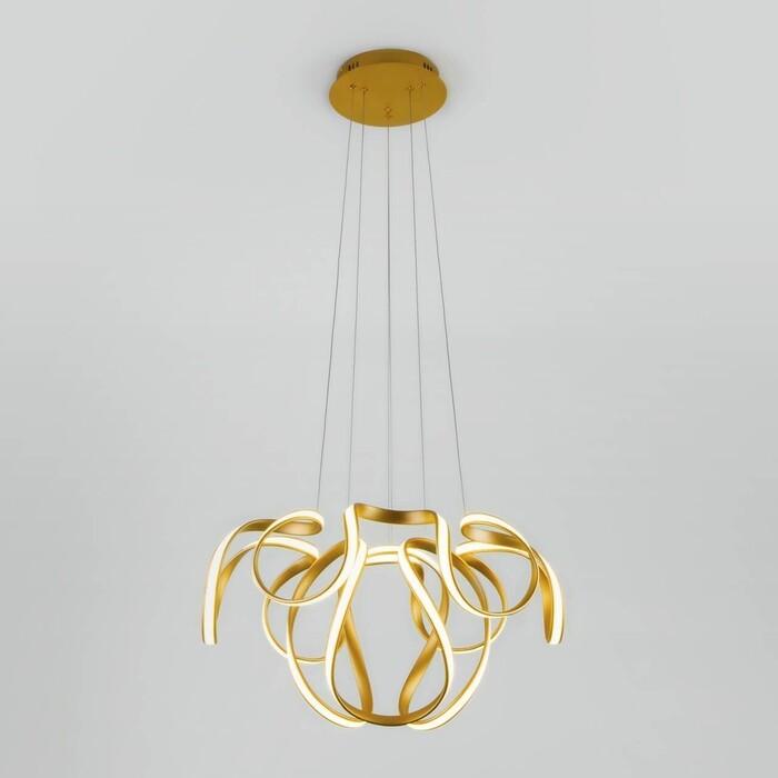 Подвесной светодиодный светильник Eurosvet Alstroemeria 90138/2 золото