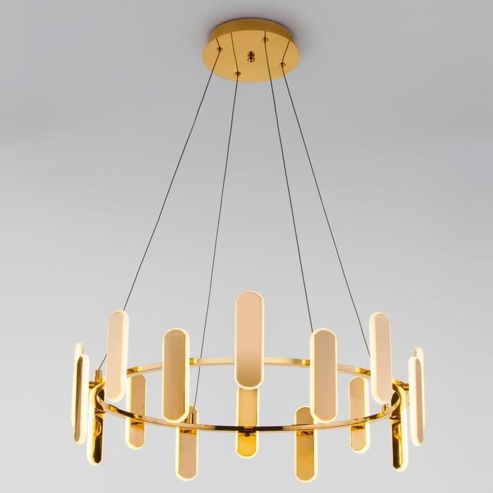Подвесной светодиодный светильник Eurosvet Riddle 90206/16 золото
