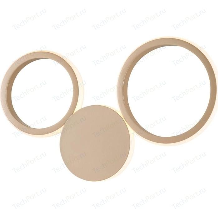 Настенный светодиодный светильник Eurosvet Rings 40141/1 LED золото