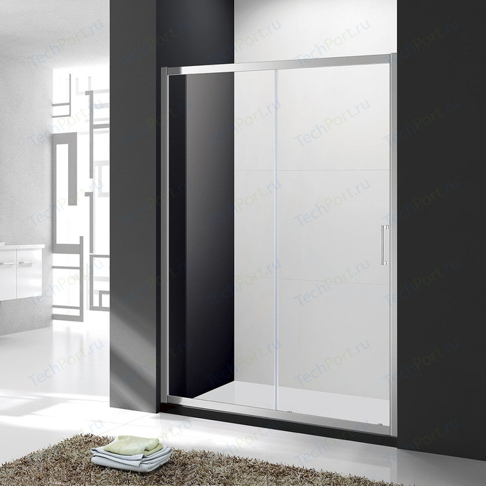 Душевая дверь Cezares Molveno BF-1 150x190 прозрачная, хром (MOLVENO-BF-1-150-C-Cr-IV)
