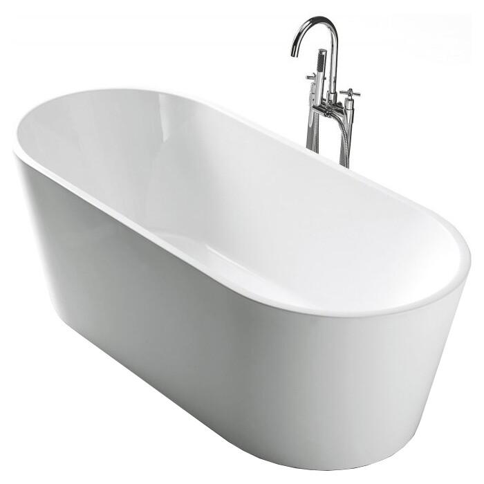 Акриловая ванна BelBagno 160x80 слив-перелив хром (BB202-1600-800)