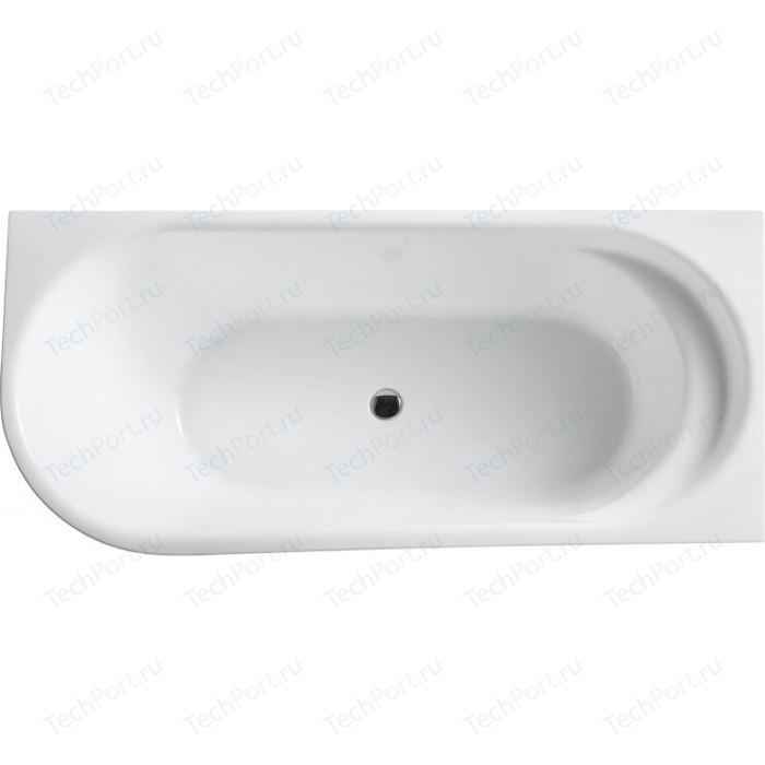 Акриловая ванна BelBagno 150x78 правая слив-перелив хром (BB410-1500-780-R)