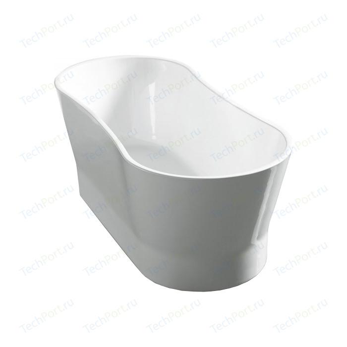 Акриловая ванна BelBagno 165x73 слив-перелив хром (BB406-1650-730)