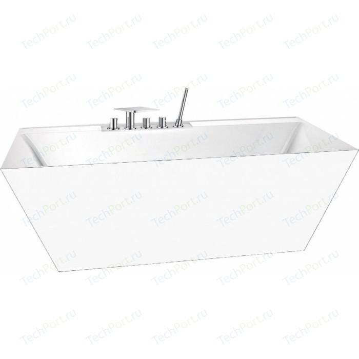 Акриловая ванна BelBagno 150x74 со сливом-переливом хром (BB19-1500-750, BB39-OVF-CRM)