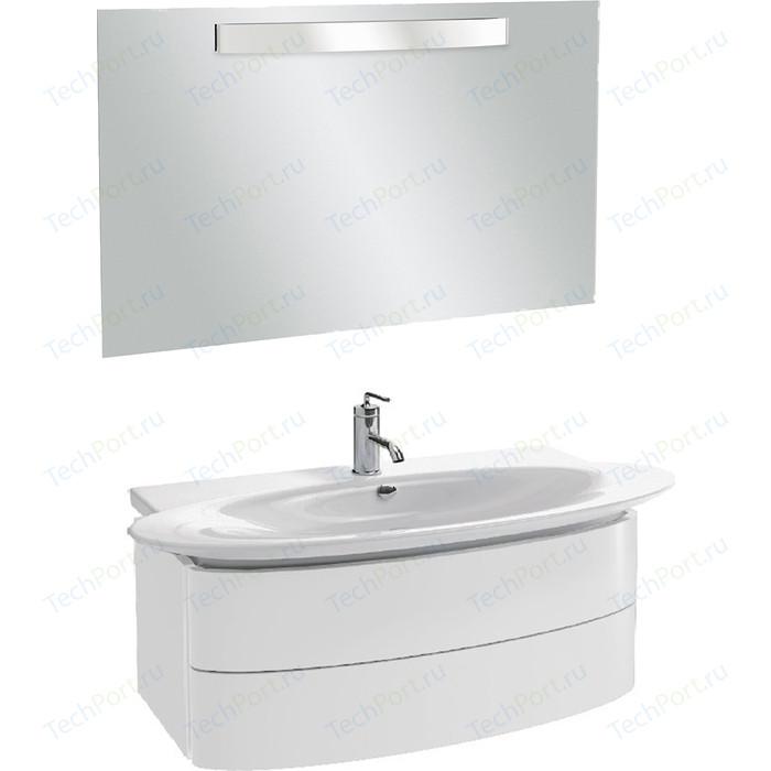 Мебель для ванной Jacob Delafon Presquile 130 белый блестящий, 2 ящика