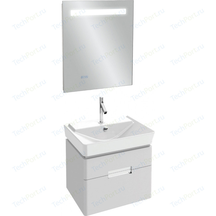 Мебель для ванной Jacob Delafon Reve 60 белый блестящий, 2 ящика
