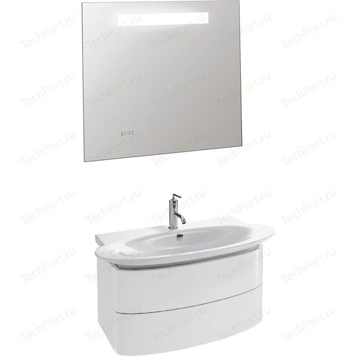 Мебель для ванной Jacob Delafon Presquile 100 белый блестящий, с 2 ящиками