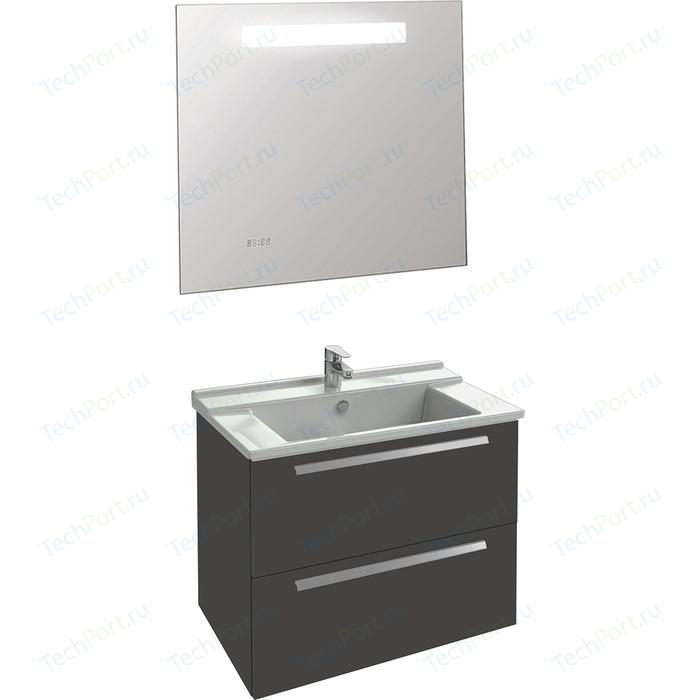 Мебель для ванной Jacob Delafon Struktura 80 серый антрацит