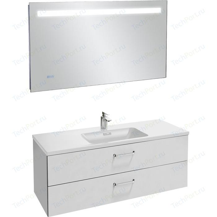 Мебель для ванной Jacob Delafon Vox 120 белый, 2 ящика, изогнутые ручки тумба под раковину jacob delafon vox 100 2 ящика изогнутые ручки l белый глянец