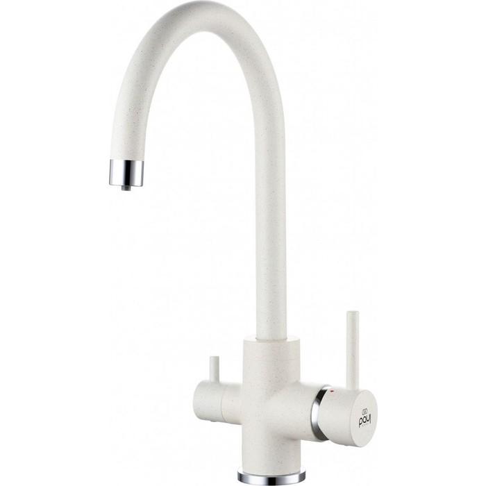 Смеситель для кухни Paulmark Essen под фильтр, белый (Es213211-331)