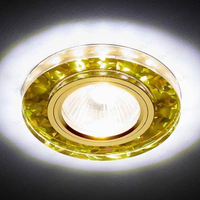 Встраиваемый светодиодный светильник Ambrella light S225 WH/G/WH