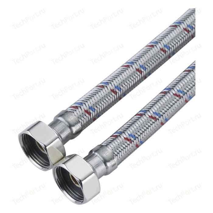 Подводка для воды СТМ ГИГАНТ в стальной оплетке, 3/4 гайка/гайка, 100 cм (CWGHF100)
