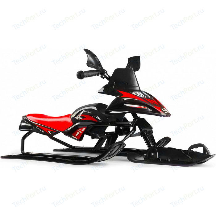 Снегокат снегоход Small Rider Scorpion SOLO, одна лыжа спереди (черный с красным)