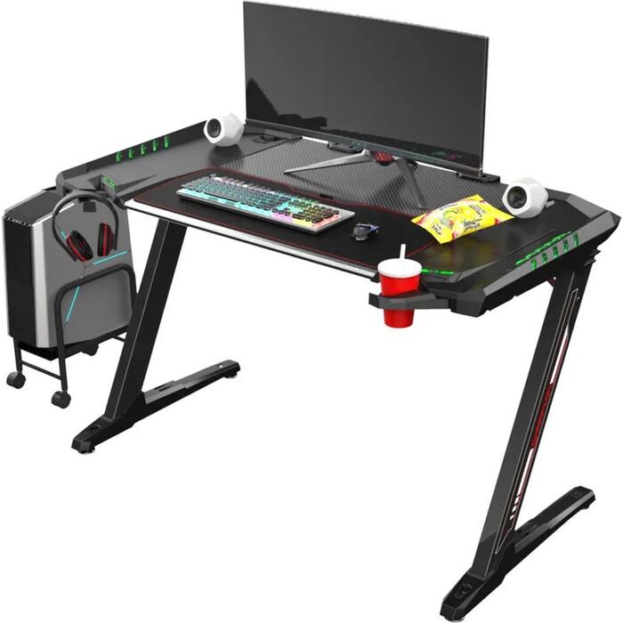 Компьютерные стол Eureka Z2 c RGB подсветкой черный стол для компьютера eureka z1s