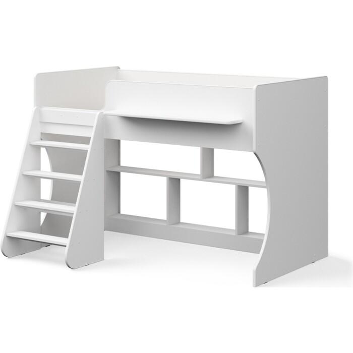Кровать-чердак Капризун Р436 2 белый кровати для подростков капризун 2 чердак р436