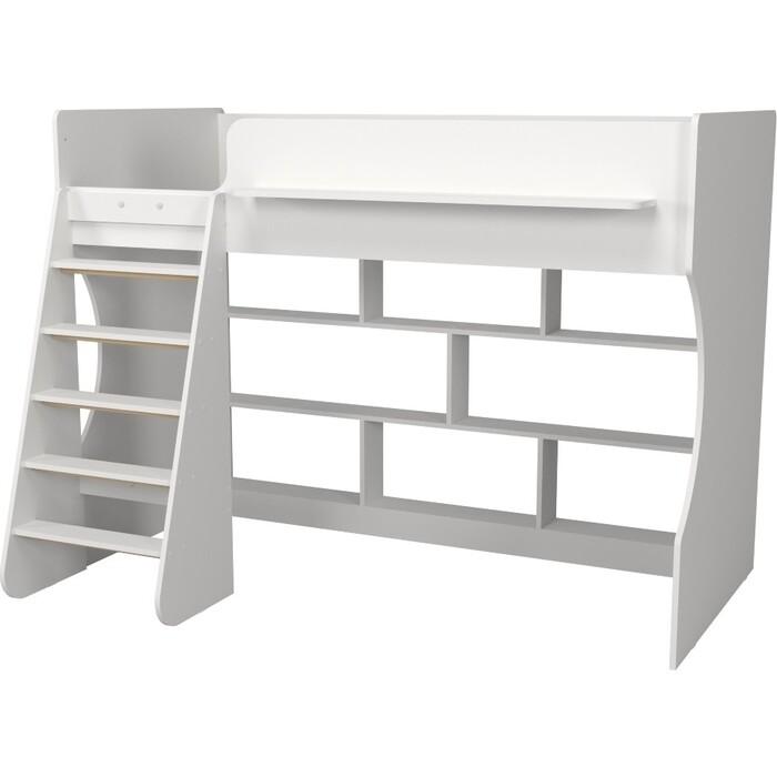 Кровать-чердак Капризун Р432 1 белый с полками кровати для подростков капризун 2 чердак р436