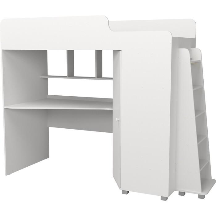 Кровать чердак с рабочей зоной Капризун Р440 5 белый