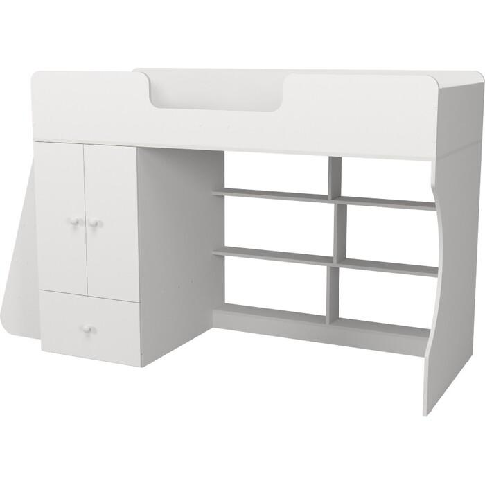 Кровать-чердак Капризун Р445 1 со шкафом белый
