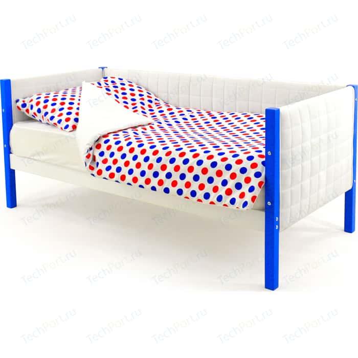 Детская кровать-тахта мягкая Бельмарко Skogen сине-белый