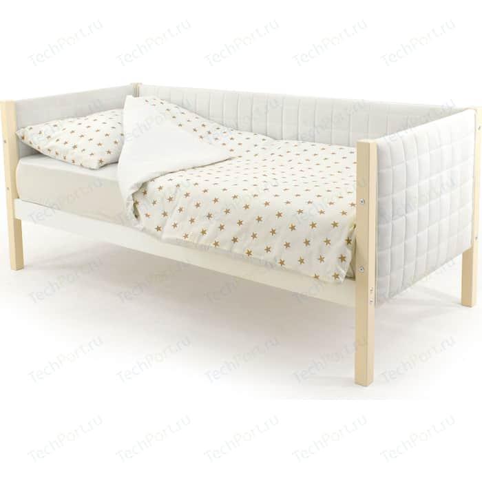 Детская кровать-тахта Бельмарко Skogen бежево-белый мягкая