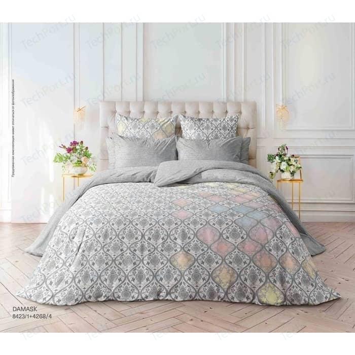 цена Комплект постельного белья Verossa Перкаль Семейный Damask (738795) онлайн в 2017 году
