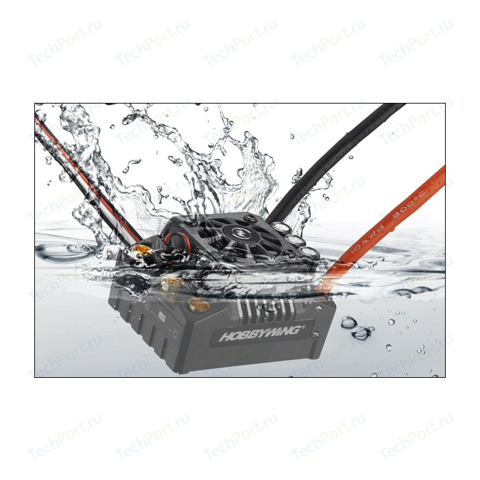 Бесколлекторный бессенсорный влагозащищенный регулятор HobbyWing EZRUN MAX8 V3 для шот-корс, багги, монстров масштаба 1/8 - HW-EZRUN-MAX8-V3-T-PLUG