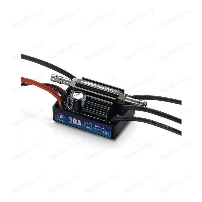 Бесколлекторный бессенсорный влагозащищенный регулятор HobbyWing Seaking 30A V3 - HW-SK-30-V3