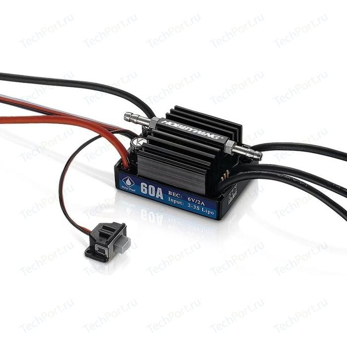 Бесколлекторный бессенсорный влагозащищенный регулятор HobbyWing Seaking 60A V3.1 - HW-SK-60-V3.1