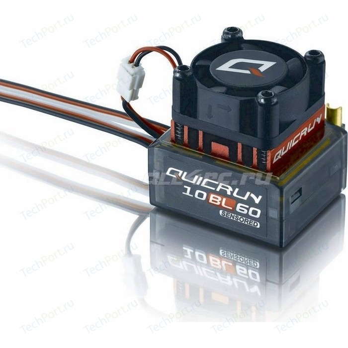 Бесколлекторный сенсорный регулятор HobbyWing QuicRun-10BL60 для автомоделей масштаба 1/10 красный - HW-QuicRun-10BL60